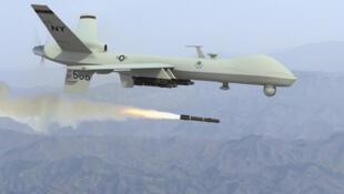 Un drone américain Predator du type de ceux utilisés dans les raids en Syrie.