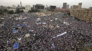 Manifestation contre le pouvoir militaire place Tahrir au Caire, le 20 avril 2012.