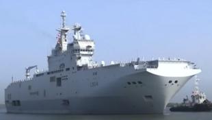 法國軍艦進入科欽港(Cochin Port)準備與美日印澳在孟加拉灣舉行拉佩魯斯聯合軍演2021年3月30日