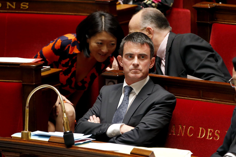 Премьер-министр Франции Манюэль Вальс в Национальном собрании, 8 октября 2014 г.