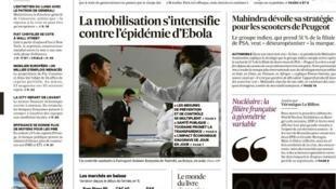 Capa do jornal francês Les Echos desta segunda-feira, 13 de outubro de 2014