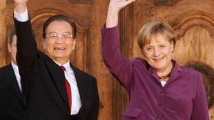 中國總理溫家寶與德國總理默克爾05102010