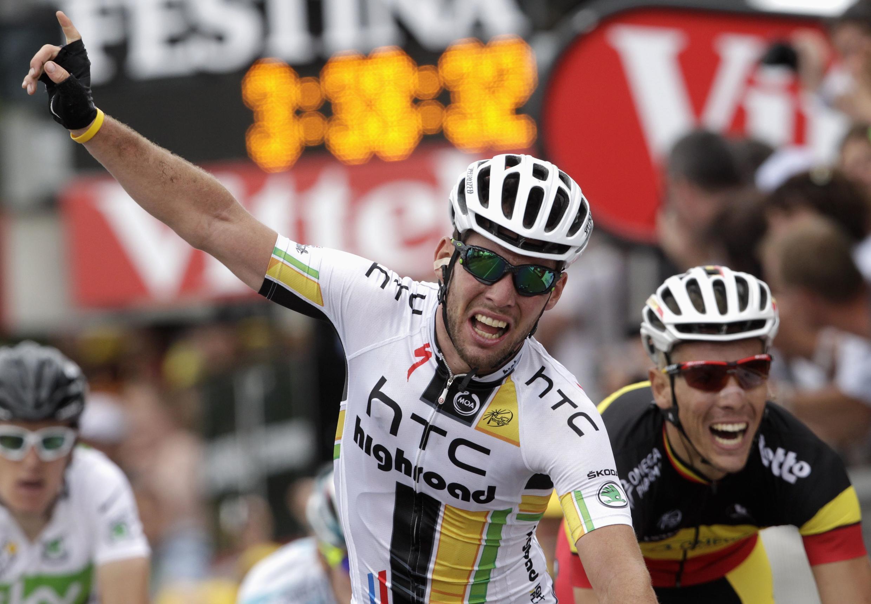 O britânico Mark Cavendish vence em Chateauroux
