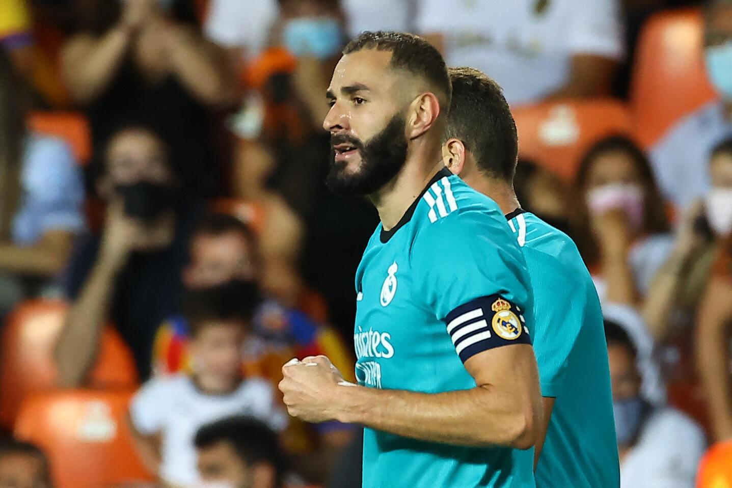 Karim Benzema buteur décisif dans la victoire du Real Madrid à Valence, le 19 septembre 2021