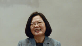 资料图片:台湾中华民国总统蔡英文。2019年1月5日摄于台北。