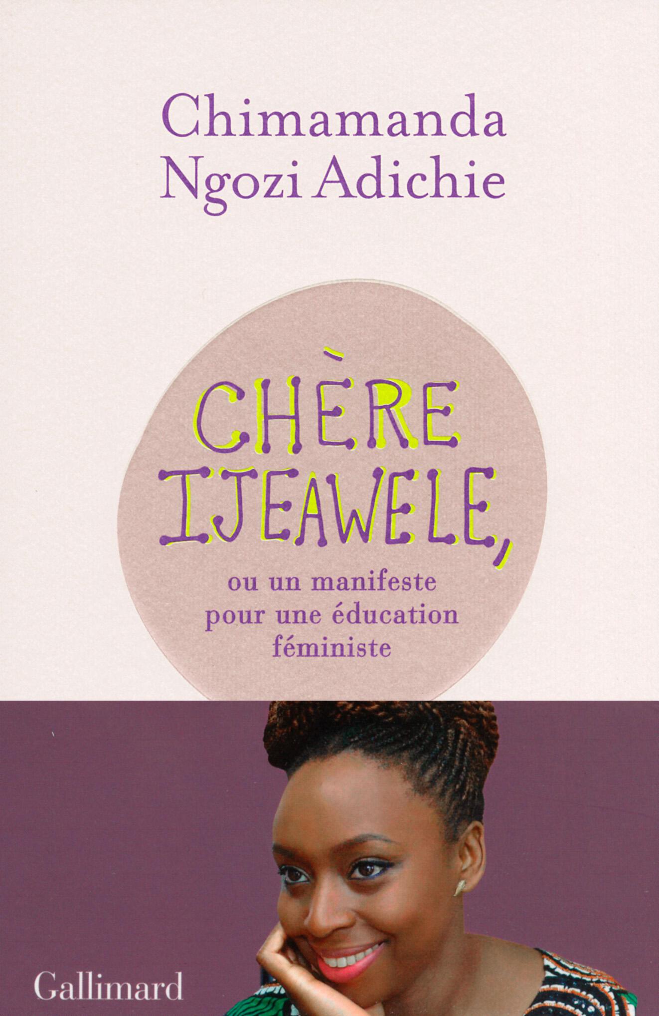 Couverture de Chère Ijeawele, ou un manifeste pour une éducation féministe, de Chimamanda Ngozi Adichie.