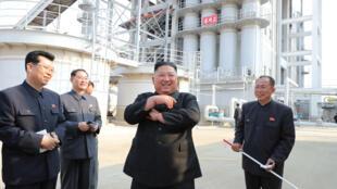 朝中社5月2日發表朝鮮最高領導人金正恩視察資料圖片