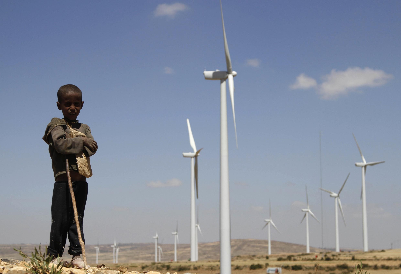 La ferme éolienne d'Ashegoda, à 780 kilomètres au nord d'Addis-Abeba. (Photo en date du  25 octobre 2013)