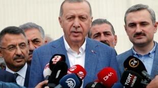 Tổng thống Erdogan phát biểu với báo chí tại Istanbul, Thổ Nhĩ Kỳ, ngày 04/06/2019.