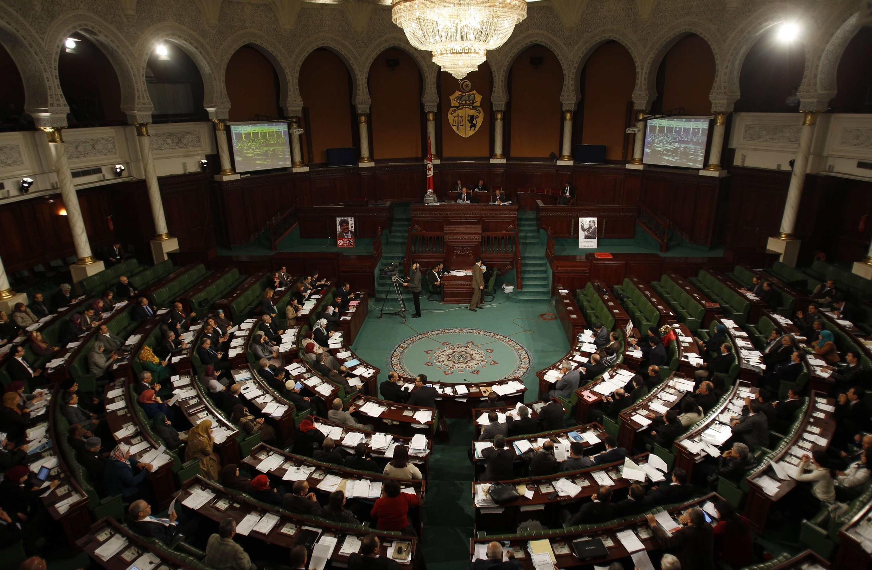 L'Assemblée nationale constituante au début du vote sur les projets de la Constitution, à Tunis, le 3 janvier 2014.