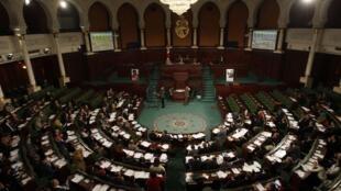 L'Assemblée nationale constituante (ANC) à Tunis, Tunisie.