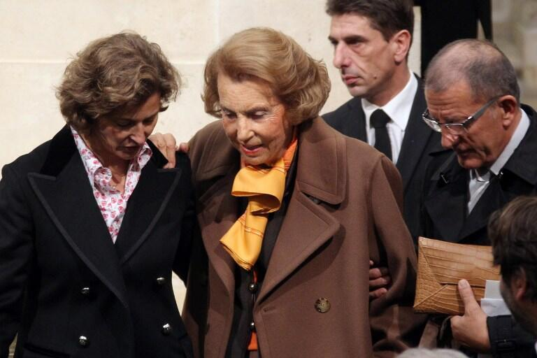 L'Oréal heiress Liliane Bettencourt photographed in Paris on 12, October 2011.