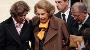La milliardaire, héritière de L'Oréal, Liliane Bettencourt est au coeur d'une saga judiciaire depuis 2007, ici à Paris le 12 octobre 2011.