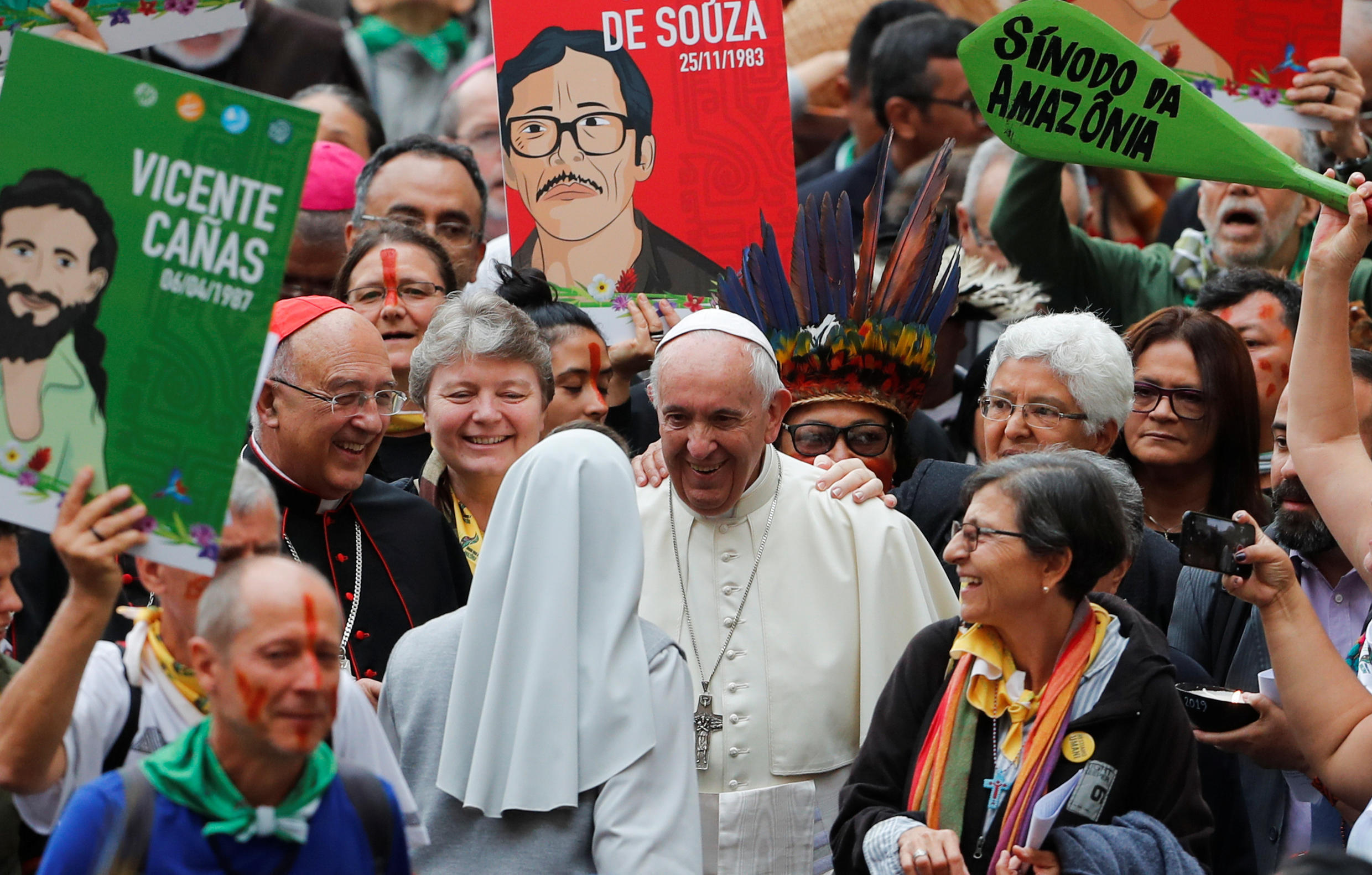 Pope Francis at the opening of the Amazon Synod of the Vatican, 7 October 2019