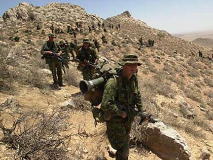 Des soldats canadiens de l'Otan, déployés en Afghanistan.