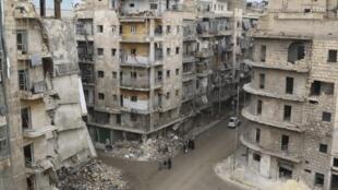 Cidade de Alepo, que pela proposta da ONU, seria um teste para a criação de uma área de cessar-fogo.