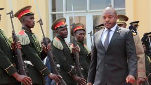 (Image d'illustration) Pierre Nkurunziza, à Bujumbura, le 16 mai 2016.
