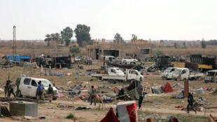 Forças Democráticas Sírias em Baghuz.