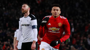 Jesse Lingard scored his 11th goal of the season in Manchester United's 2-0 win over Derby County.