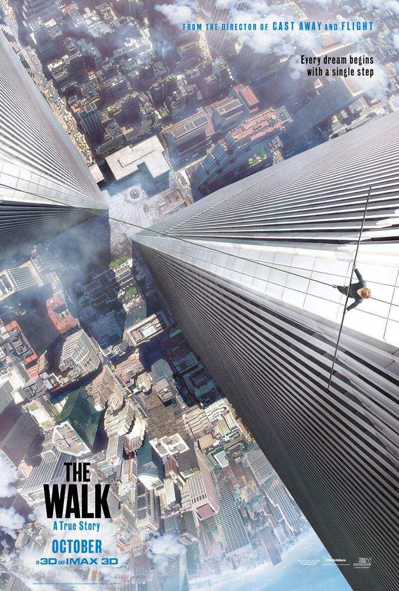 Poster do filme A Travessia, do diretor norte-americano Robert Zemeckis.