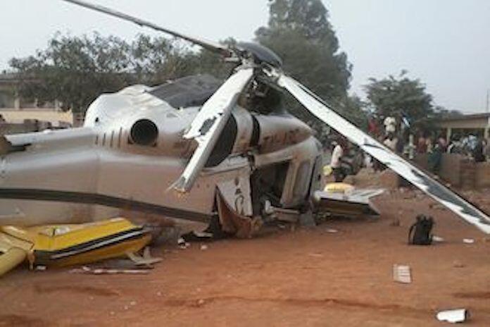 Le Premier ministre Lionel Zinsou et les six autres occupants de l'hélicoptère présidentiel sont sortis sains et saufs de l'accident du 26 décembre, à Djougou.