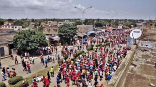 Manifestation à l'appel de l'opposition togolaise dans les rues de Lomé, le 5 octobre 2017 (image d'illustration).