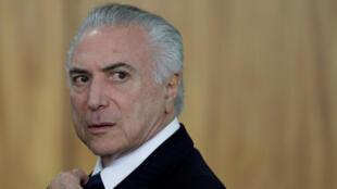 Le président Michel Temer le 26 juin 2017 à Brasilia.