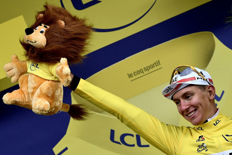Le Slovène Tadej Pogacar a conservé le maillot jaune à l'issue de la 9e étape du Tour de France, le 4 juillet 2021 à Tignes