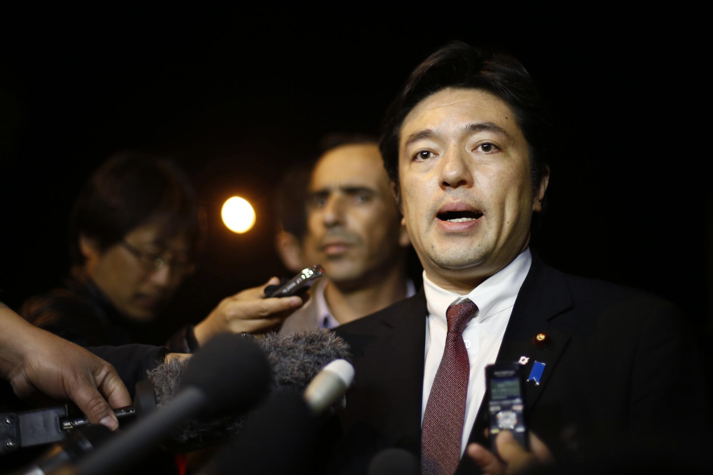 Thứ trưởng Ngoại giao Nhật Bản Yasuhide Nakayama tại Amman - REUTERS /M. Hameed