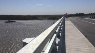 Le nouveau pont entre la Gambie et le Sénégal.