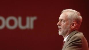 Jeremy Corbyn, leader du Labour, le parti travailliste britannique, le 29 septembre 2015.
