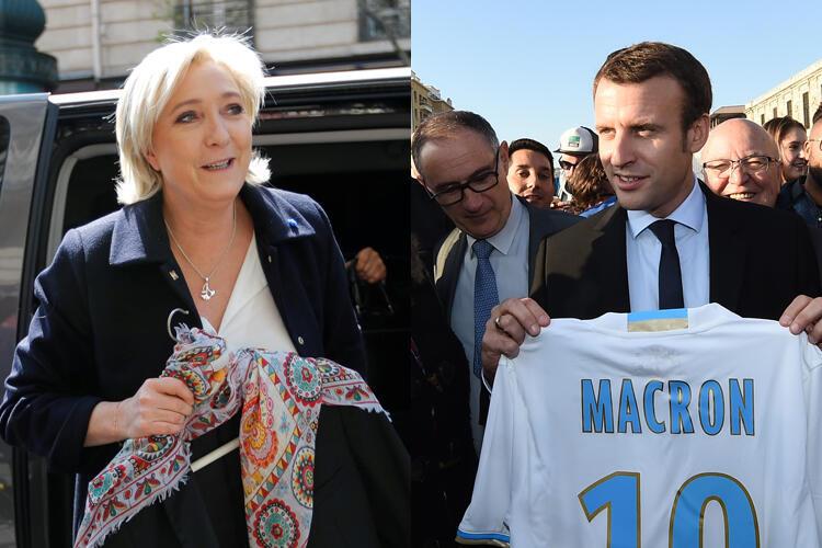Marine Le Pen y Emmanuel Macron se enfrentarán en la segunda vuelta el próximo 7 de mayo..