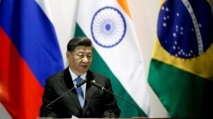 中国国家主席习近平在金砖国家峰会2019年11月14日巴西利亚
