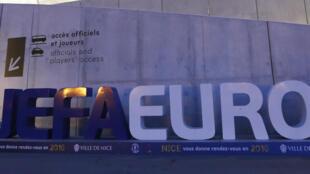 Le stade de Nice, un des lieux où se déroulera l'Euro 2016.
