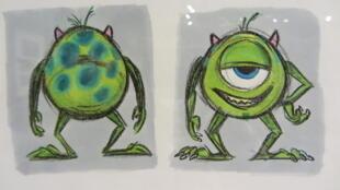 Uma das obras expostas na Exposição 25 anos da Pixar em Paris.