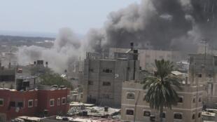 En Rafah, ciudad de la Franja de Gaza, este 14 de julio de 2014.