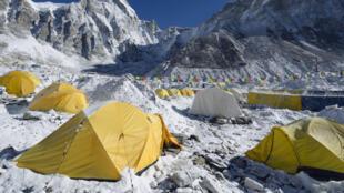 Deux tiers des déchets ont été collectés sur le camp de base, à 5300 mètres d'altitude.