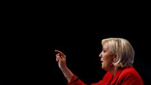 Marine Le Pen en su mitin de Lille, el 26 de marzo pasado.
