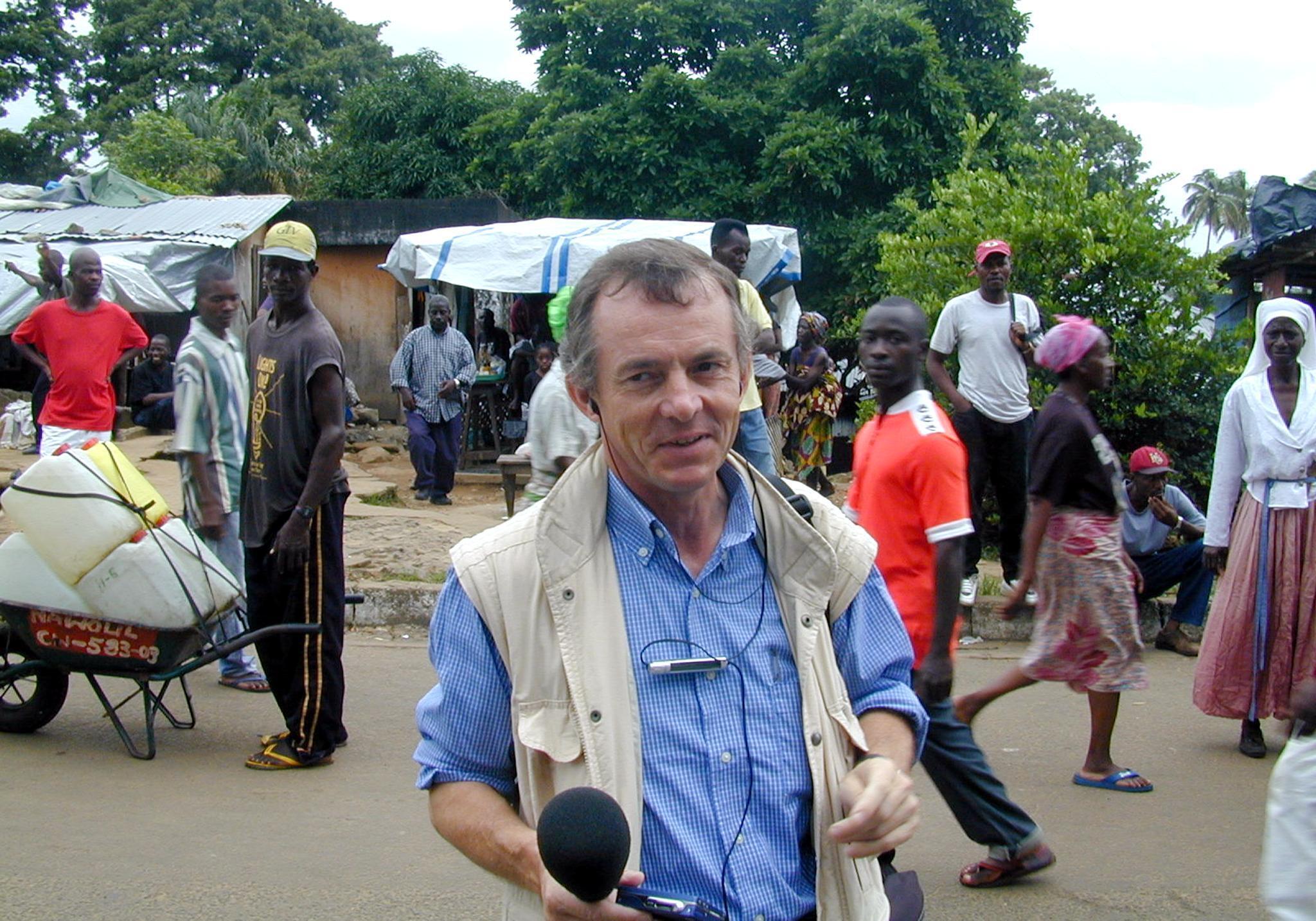 Jean Hélène au mois d'août 2003 à l'occasion d'un reportage à Monrovia au Liberia.