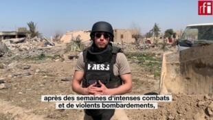 Sami Boukhelifa à Baghouz, en Syrie.