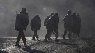 Армянские солдаты недалеко от границы Нагорного Карабаха. 8 ноября 2020 г.