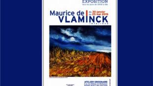 L'affiche de l'exposition du peintre français Maurice de Vlaminck à l'Atelier Grognard de Rueil-Malmaison (du 30 janvier au 25 mai 2015).