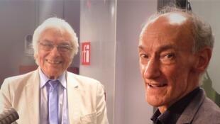 El acordeonista Raúl Barboza y el guitarrista Roberto Aussel en RFI