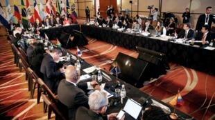 Reunião do Grupo de Lima em Santiago, Chile, em abril 15 de abril de 2019.