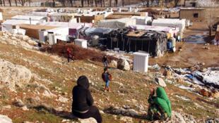Campo de refugiados en el valle de Becá, Líbano.