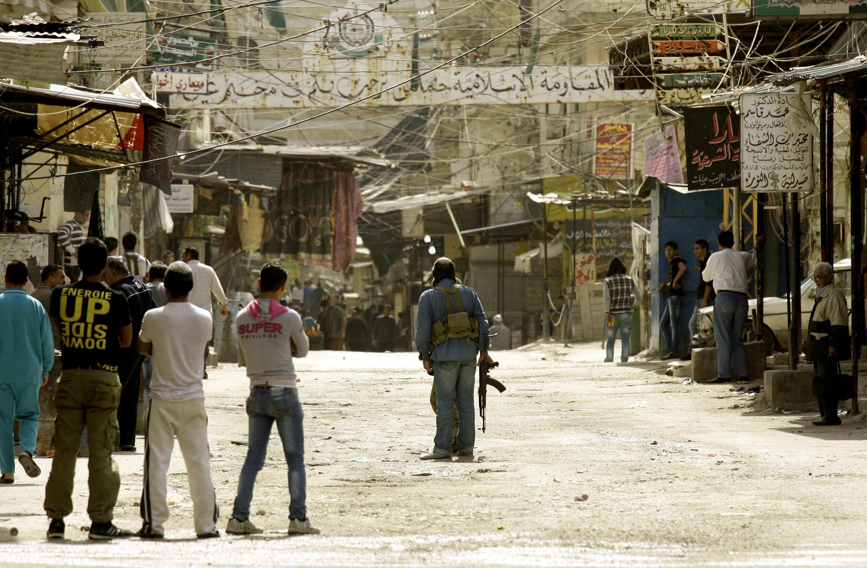 Le camp de réfugiés palestiniens d'el-Heloué, près de Sidon, au Liban. Photo datée du 12 mars 2013.
