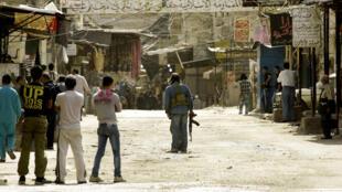 Le camp de réfugiés palestiniens de el-Heloué, près de Sidon, au Liban. Photo : 12 mars 2013.