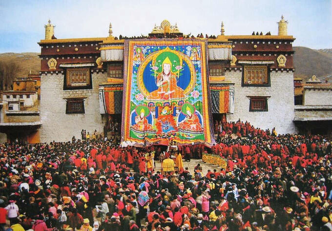 Tibet fête de bouddha 西藏
