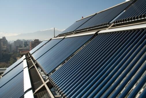Paneles solares en Santiago de Chile.