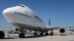 Un Boeing 747-8 de Lufthansa.